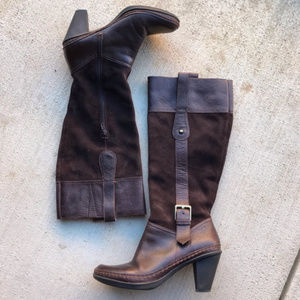 Naturalizer Brown Leather Tall Boots - 7.5